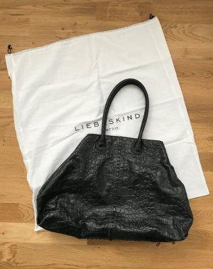 Liebeskind Chelsea croco Handtasche/ Shopper schwarz *wie neu*