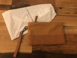 Liebeskind Berlin Clutch sand brown-bronze-colored leather