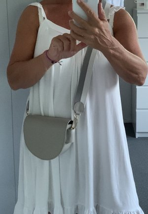 Liebeskind Crossbody bag light grey-gold-colored leather