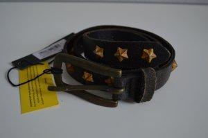 LIEBESKIND Gürtel 95cm Leder Neu! schwarz mit gelben Sternen
