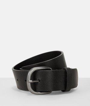 Liebeskind Berlin Leather Belt black-silver-colored leather