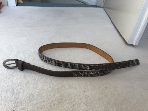 Liebeskind Berlin Leather Belt grey brown-silver-colored
