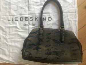 Liebeskind Handtasche grau schwarz