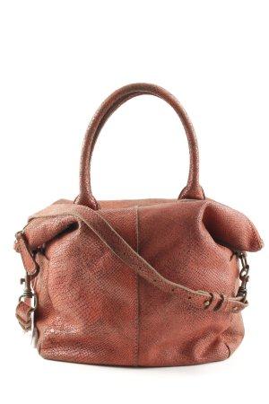 Liebeskind Handtasche rostrot Reptil-Optik