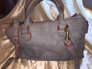 Liebeskind Handbag silver-colored-red leather