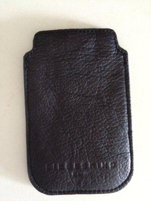 Liebeskind Handyhülle iPhone 4/4S Schwarz Echtes Leder