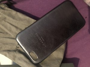 Liebeskind Berlin Hoesje voor mobiele telefoons zilver-grijs Leer