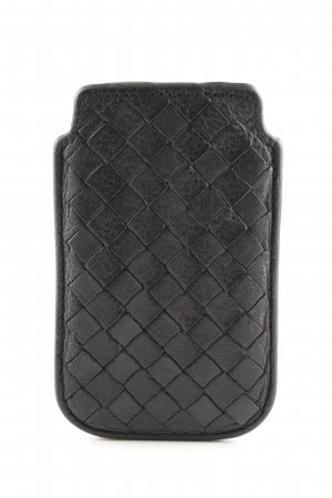 Liebeskind Mobile Phone Case black quilting pattern business style