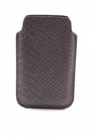 Liebeskind Mobile Phone Case dark brown reptile print