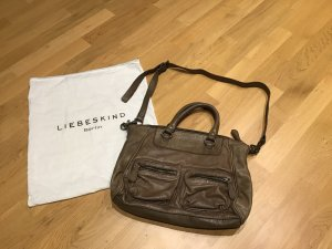 Liebeskind Berlin Carry Bag grey brown leather
