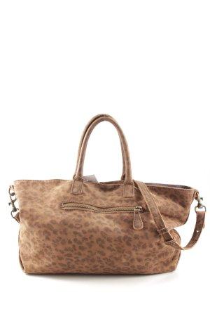 Liebeskind Bolso barrel negro-marrón claro estampado de leopardo look casual