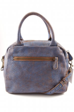 Liebeskind Carry Bag steel blue-brown animal pattern second hand look
