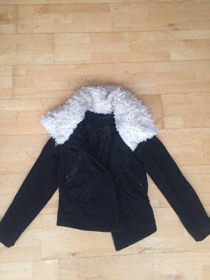Liebeskind Berlin Giacca di pelliccia nero-bianco