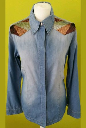 Liebeskind Jeans Hemd Bluse mit Pailletten