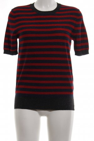 Liebeskind Short Sleeve Sweater black-red striped pattern casual look
