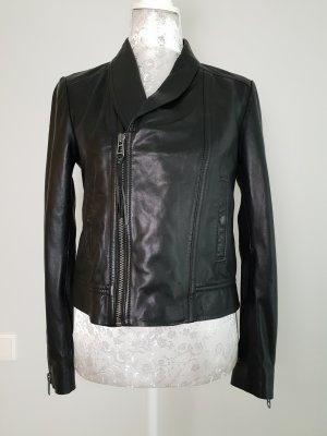 Liebeskind Leather Jacket black-silver-colored