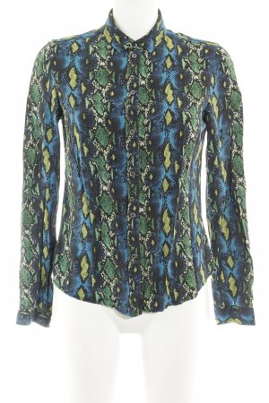 Liebeskind Long Sleeve Blouse animal pattern reptile print