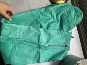 Liebeskind Leather Trousers green leather