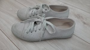 Liebeskind Leder Sneaker beige Wildleder Gr. 36 grau