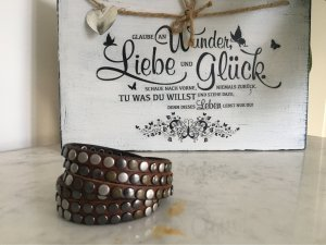 Liebeskind Berlin Leather Bracelet dark brown-brown