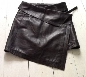 Liebeskind Wraparound Skirt black leather