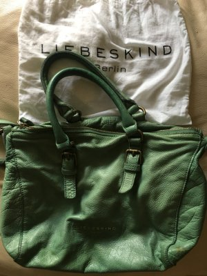 Liebeskind Berlin Crossbody bag sage green leather