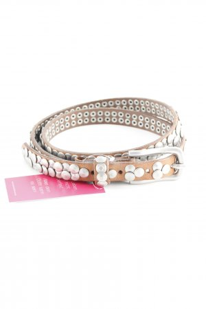 Liebeskind Studded Belt beige-silver-colored casual look