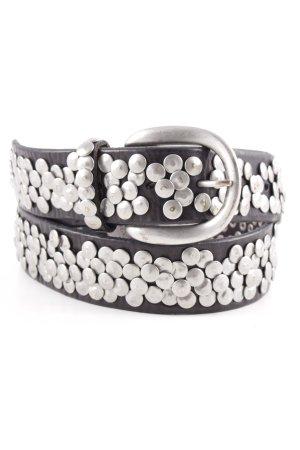 Liebeskind Cinturón de pinchos marrón oscuro-color plata look casual