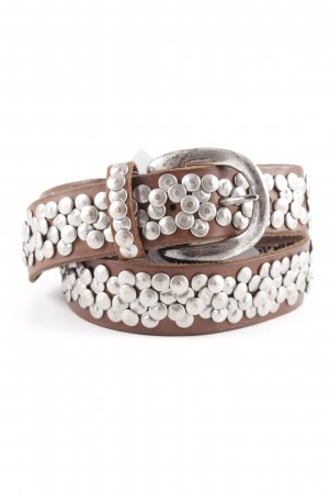 Liebeskind Studded Belt silver-colored-brown casual look