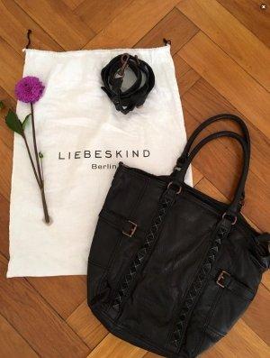 Liebeskind Berlin Borsellino nero-color oro rosa Pelle