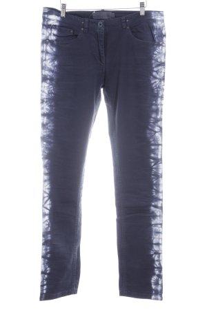 Liebeskind Röhrenjeans dunkelblau Batikmuster 90ies-Stil