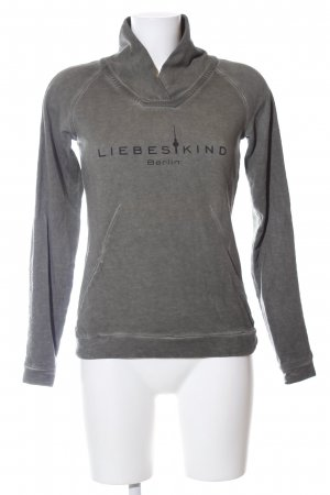 Liebeskind Turtleneck Sweater light grey printed lettering casual look