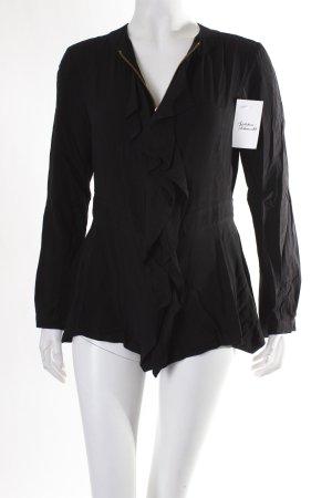 Liebeskind Rüschen-Bluse schwarz klassischer Stil