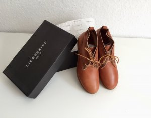 Lace Shoes cognac-coloured leather