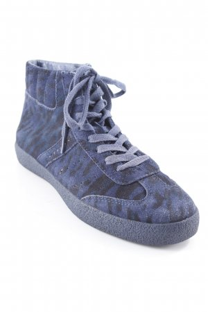 Liebeskind Lace Shoes black-dark blue camouflage pattern casual look