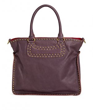 Liebeskind Shopper bordeau-doré cuir