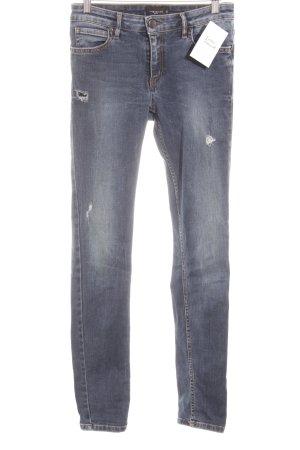 Liebeskind Skinny Jeans blau Destroy-Optik