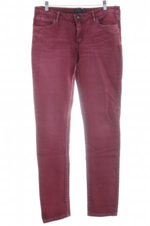 Liebeskind Slim Jeans karminrot Washed-Optik