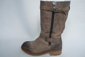 Liebeskind Fur Boots grey brown leather