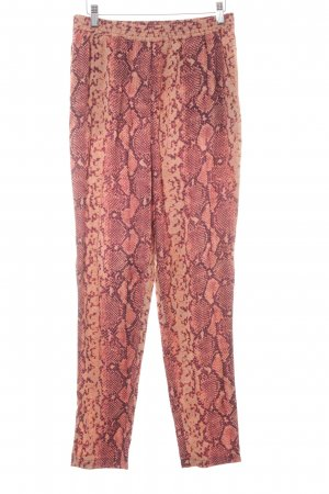 Liebeskind Jersey Pants animal pattern reptile print