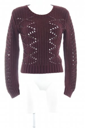 Liebeskind Knitted Sweater bordeaux loosely knitted pattern casual look