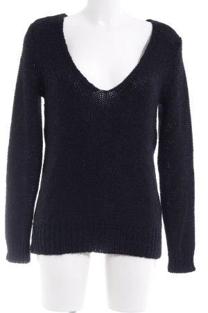 Liebeskind Pull tricoté noir-bleu foncé style décontracté