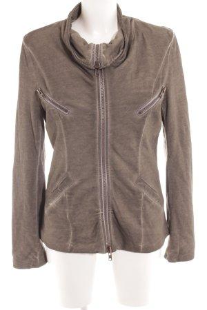 Liebeskind Veste sweat gris brun motif de courtepointe style mode des rues