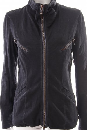 Liebeskind Sweatjacke schwarz-grau Washed-Optik