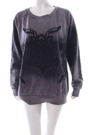 Liebeskind Sweatshirt dunkelgrau-schwarz abstraktes Muster Casual-Look