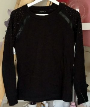 Liebeskind Sweatshirt zwart-goud Katoen