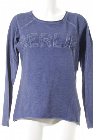 Liebeskind Sweat Shirt steel blue embroidered lettering casual look
