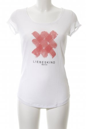 Liebeskind T-shirt abstract patroon casual uitstraling