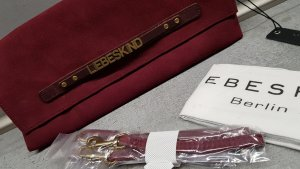 Liebeskind Crossbody bag gold-colored-bordeaux suede