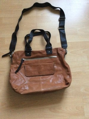 Liebeskind Handbag light brown-dark brown leather